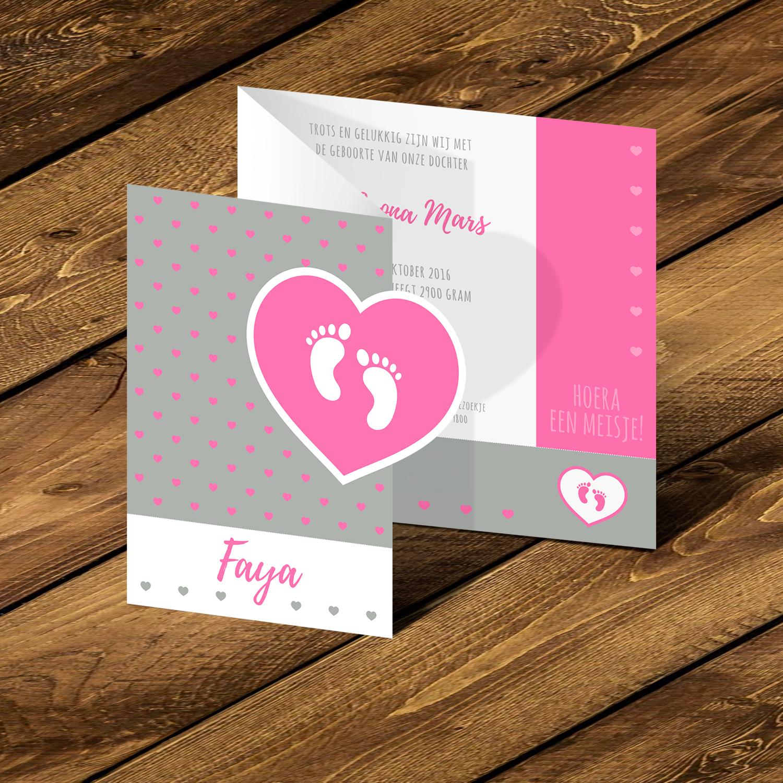 Geboortje kaartje Faya