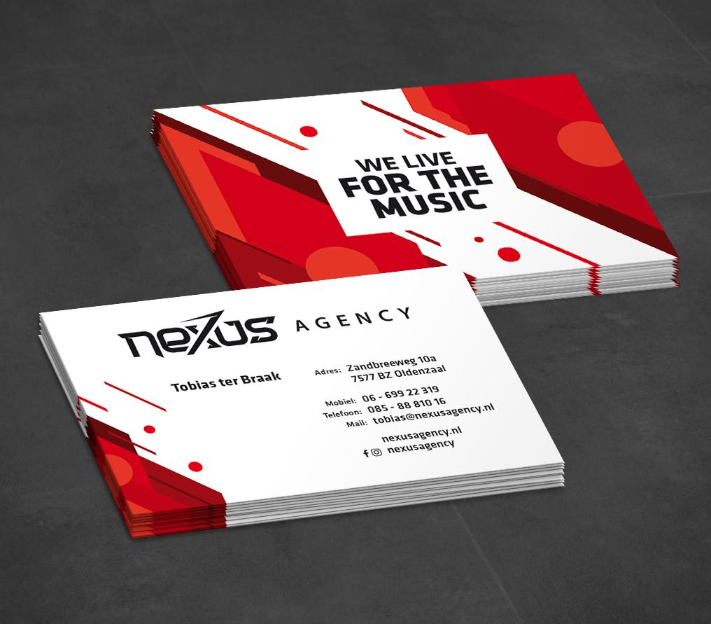 Nexus Agency visitekaartje