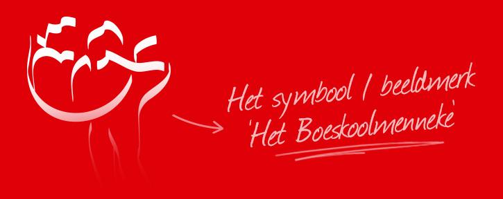Boeskool is los - het boeskoolmenneke oldenzaal, symbool / beeldmerk