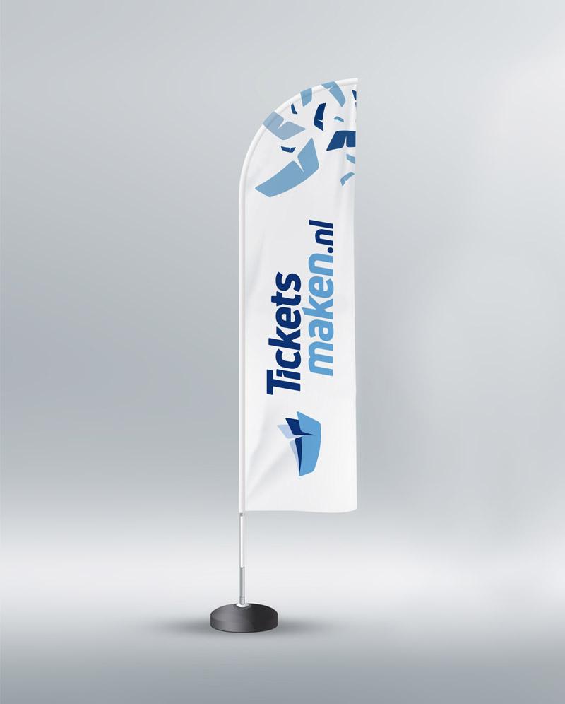 Drukwerk Oldenzaal - Beachflag / Beachvlag witte versie