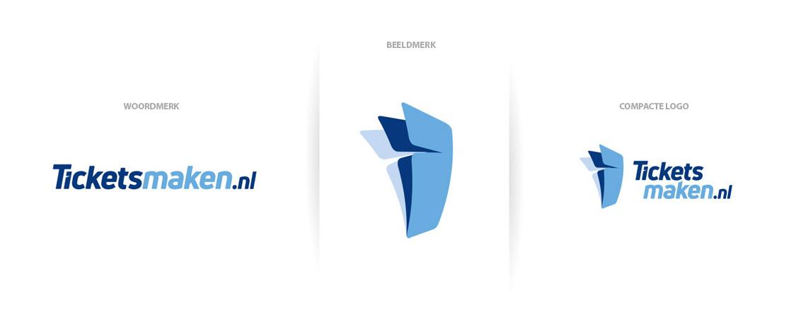Logo, beeldmerk & woordmerk | Project Ticketsmaken.nl logo ontwerp, branding & huisstijl