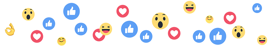 social media & content creaties - reacties, likes, hartje en duim