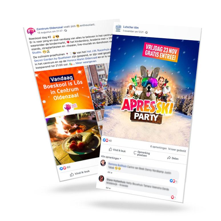 Contentcreatie | Social media posts Centrum Oldenzaal en Lutscher Alm Enschede / Losser - content creatie van Slize