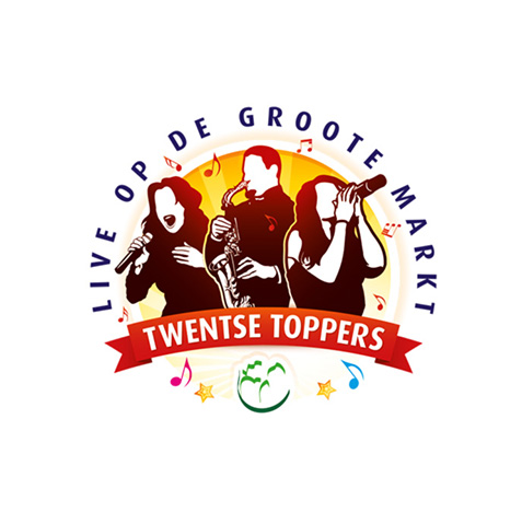 Twentse Toppers op de Groote Markt Oldenzaal - logo ontwerp huisstijl Twente