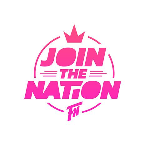Join the nation logo creatie - EDM DJ Feestnation - artiesten logo ontwerp