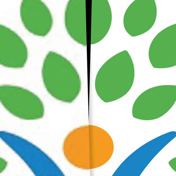 logo digitaliseren | van onduidelijk, onscherp en te klein naar scherpe lijntekening / vector