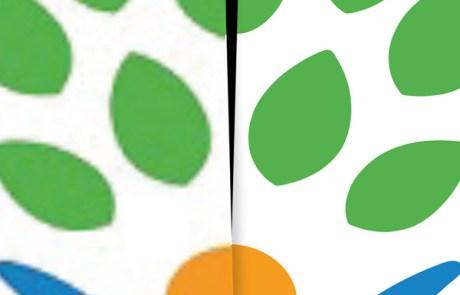 logo digitaliseren   van onduidelijk, onscherp en te klein naar scherpe lijntekening / vector