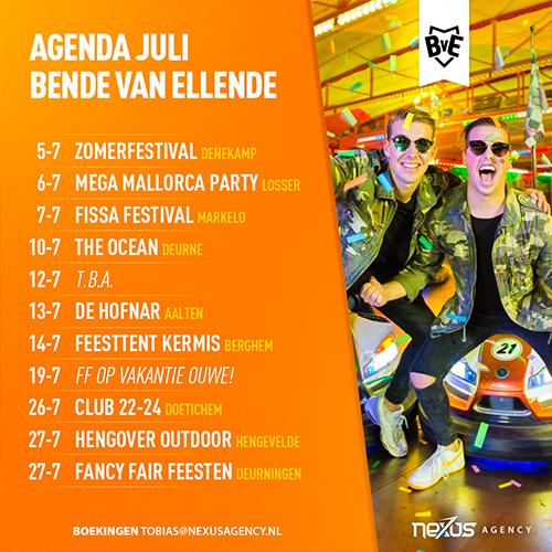 Bende van Ellenda | DJ optreden agenda | post facebook