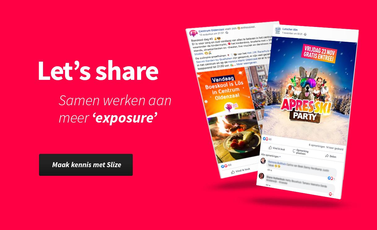 Social media posts ontwerpen - Content creatie portfolio Slize Oldenzaal voor evenementen en het MKB in Twente