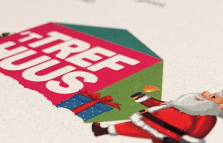 Trefhuus Overdinkel - Kerstkaart gedrukt op speciaal papier en met speciale afwerking (drukwerk special)