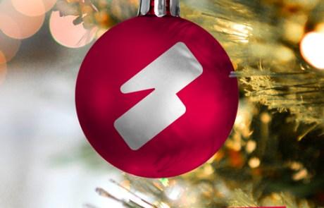 Kerstbal met beeldmerk Slize - beperkt geopend met de feestdagen