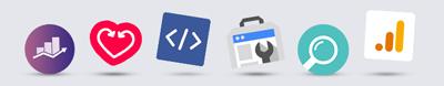 seo content creatie icons speels