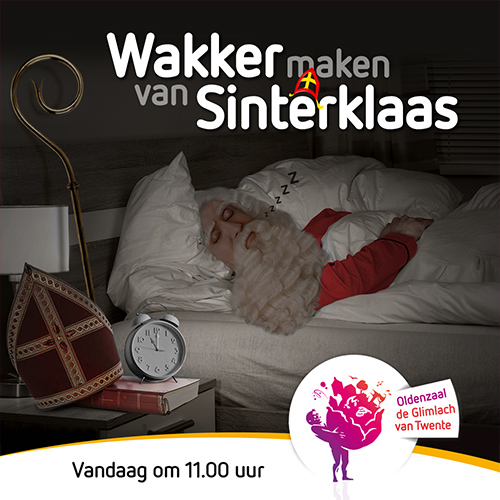 Wakker maken van Sinterklaas - social media post ontwerpen voor Centrum Oldenzaal