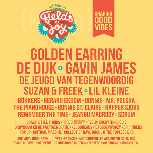 fields of joy festival oldenzaal - event design social media line up