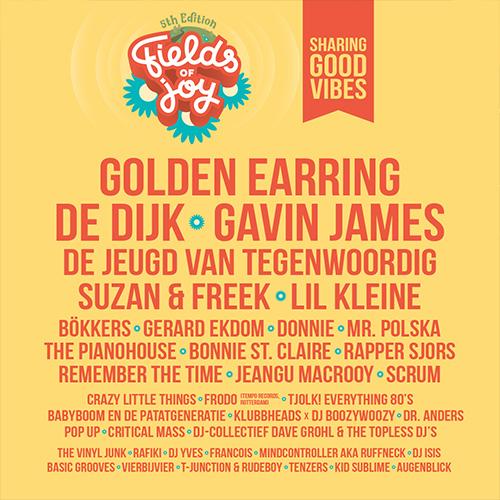 fields of joy festival oldenzaal - event design social media line up