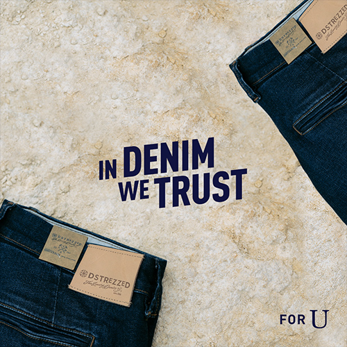 in denim we trust - fashion content creatie, social media uiting