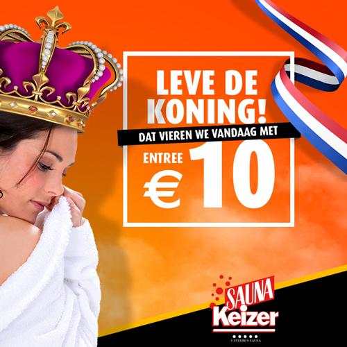 Koningsdag actie Sauna keizer Oldenzaal - content creatie Slize Oldenzaal