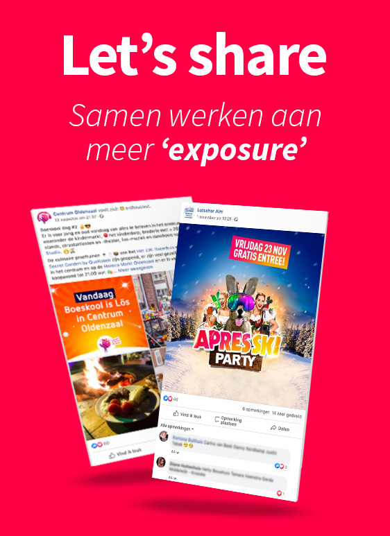 Reclamebureau Oldenzaal - Let's share content - postings, visuals en creaties voor online & social
