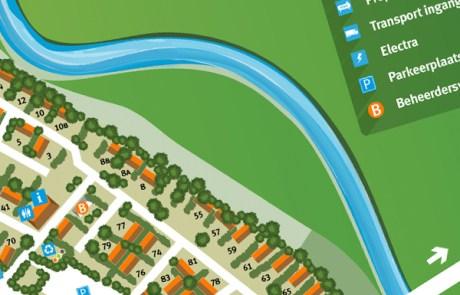 Nieuw stuk plattegrond tekenen   Haaksbergen: grafisch bewerken en tekenen plattegrond vakantiepark - Illustrator DTP werk