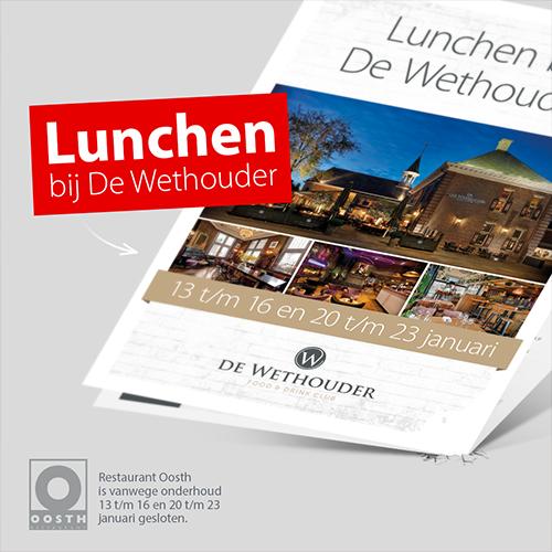 Porfolio social media vormgeving Denekamp | Restaurant Oosth, De Wethouder lunchen