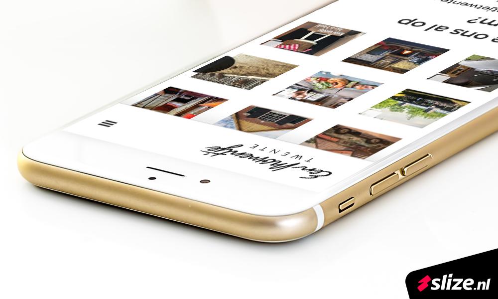 Mobiele website maken. Realisatie webdesign Slize Oldenzaal voor Een Momentje Twente in De Lutte