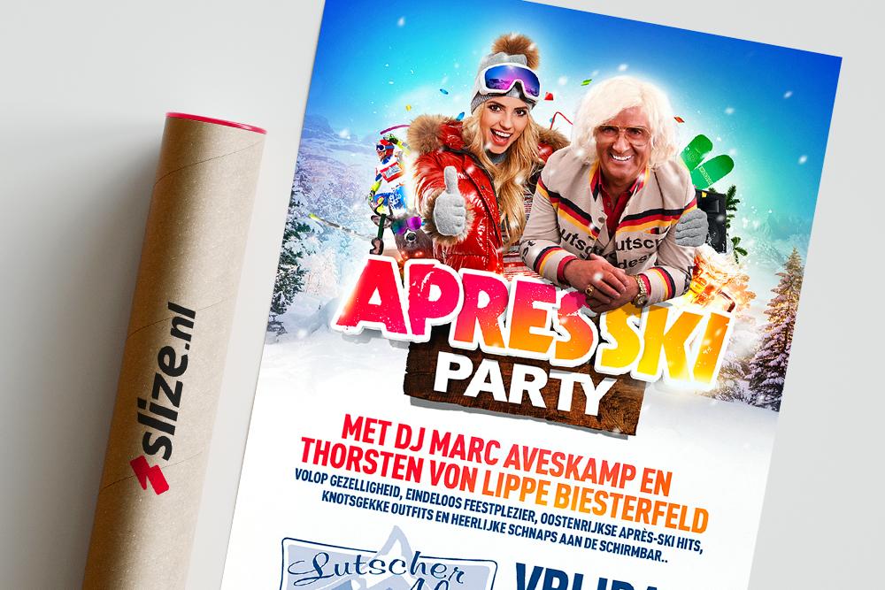 Poster Apres Ski Party | Grafisch ontwerp voor Enschede / Losser