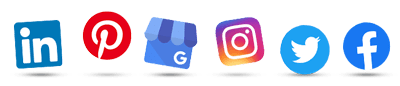 2019 social media icons - linkedin, pinterest, google posts, instagram, twitter, facebook