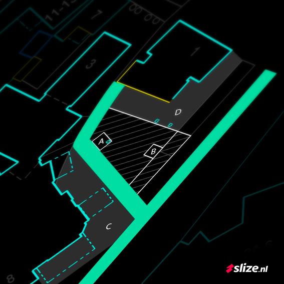 Centrum Denekamp - plattegrond intekenen op schaal