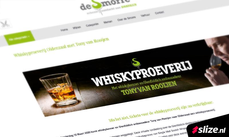 Content co creatie - website vullen met informatie voor de whiskyproeverij met Tony van Rooijen