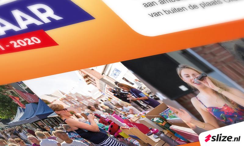 dtp en vormgeving, advertenties maken voor aanmelden braderie Boeskool is Los Oldenzaal.