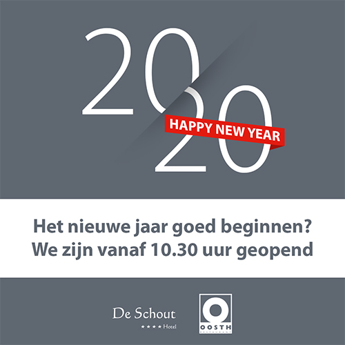 Happy new year 2020 - Posting voor hotel / restaurant, social media plaatje maken