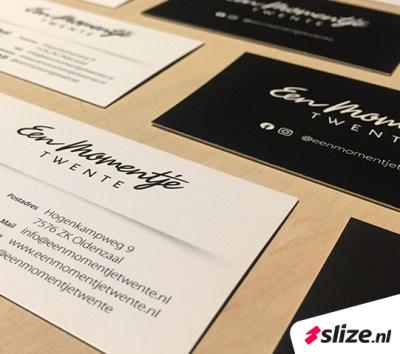 Kaartjes drukken De Lutte / Oldenzaal. Print en drukwerk van Slize.