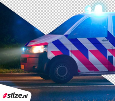 Politie busje met nieuwe striping - Beeldbewerking in Adobe Photoshop