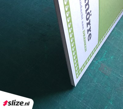 Waardecheque maken op foambordje monteren en printen