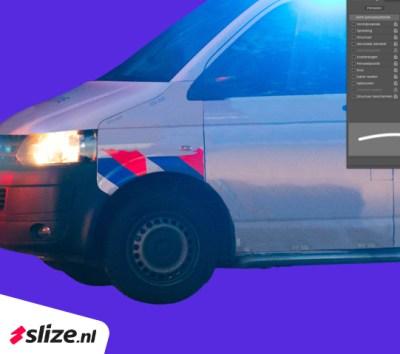 Wegpoetsen in Photoshop, grafische beeldbewerking project Enschede