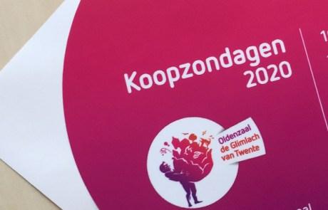 Ronde raamstickers drukken Centrum Oldenzaal