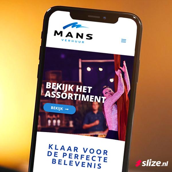 Nieuwe website maken Oldenzaal Mans Verhuur