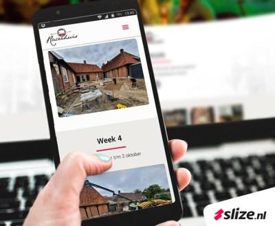 Mobiel webdesign Oldenzaal (Twente) - Vrouwenhand met mobiel in de hand