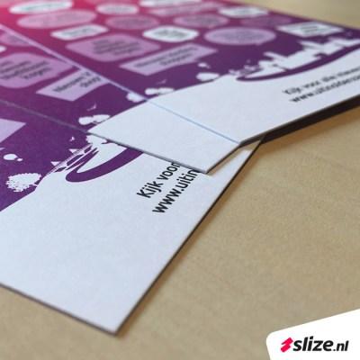 Flyers drukken op speciale papiersoort - Slize x Oldenzaal Promotie