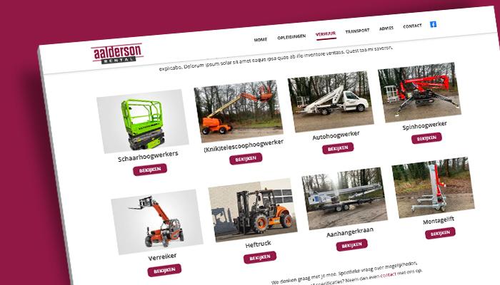 Website ontwerp Aalderson Rental Enschede | Wedesign van Slize Oldenzaal