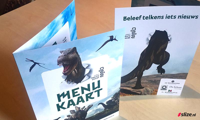 Nieuwe menukaart - Drukwerk denekamp Tuincafé Wonderryck