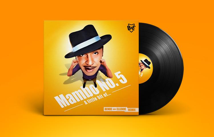 Lou Bega - Mambo No 5 Remix - Platenhoes ontwerp