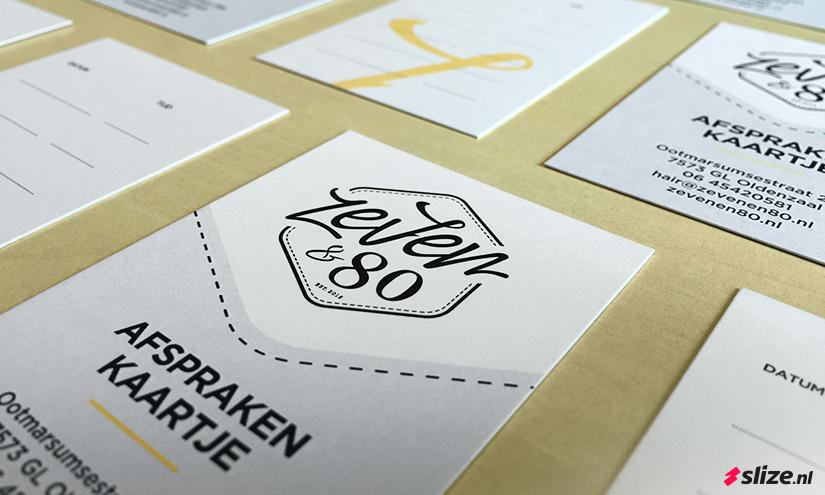 Klein aantal afsprakenkaartjes drukken - Drukwerk voor zeven & 80 in Oldenzaal