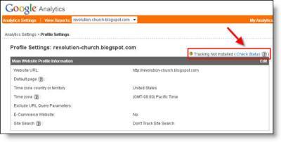 Google Analytics Blogger Dashboard Check Code