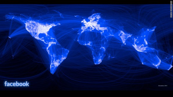 Facebook mapa