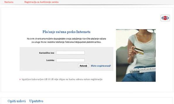 Telekom Srbija stranica za prijavu