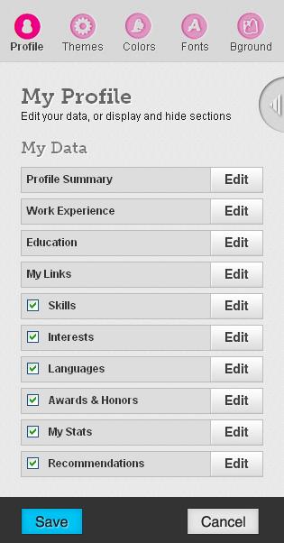 Kastomizacija onlajn CV