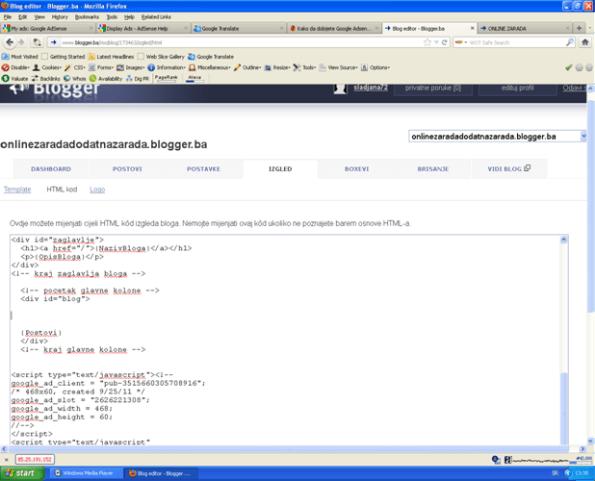 html kod blogger.ba