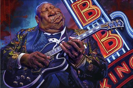 bb king caricature poster