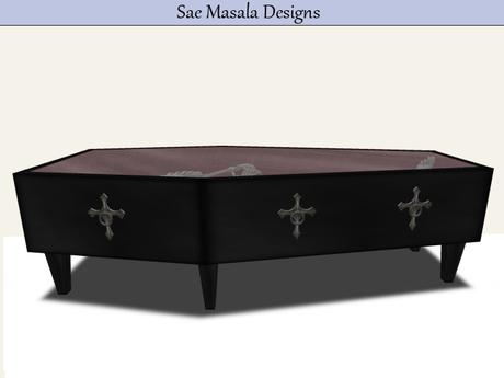coffin coffee table 3 li mesh glass